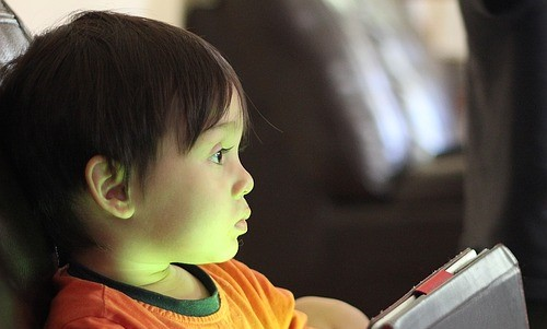 child gazing