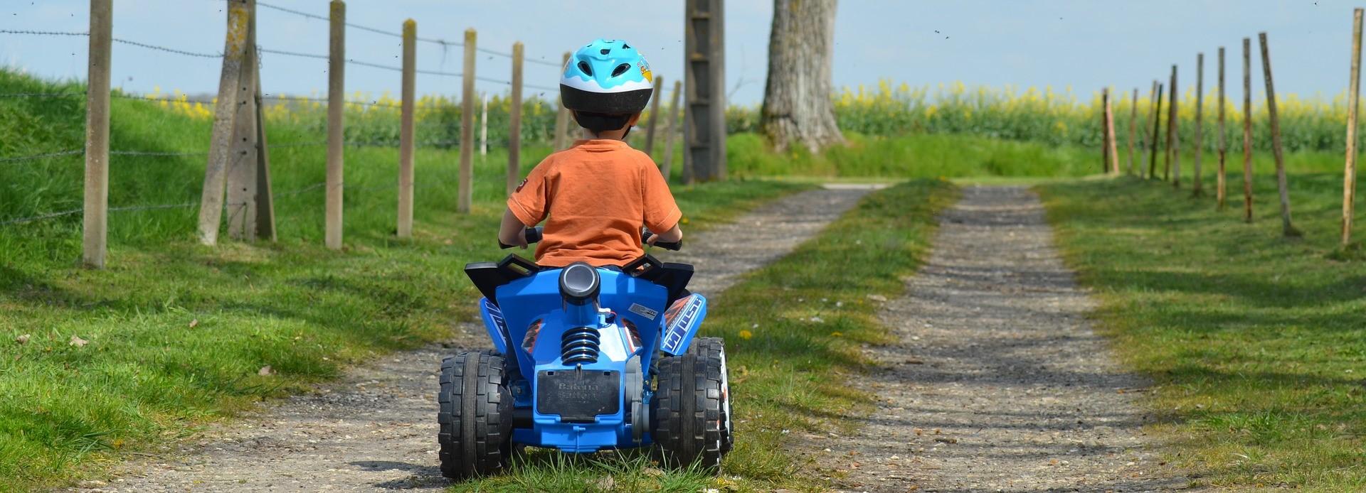 child on a quad bike