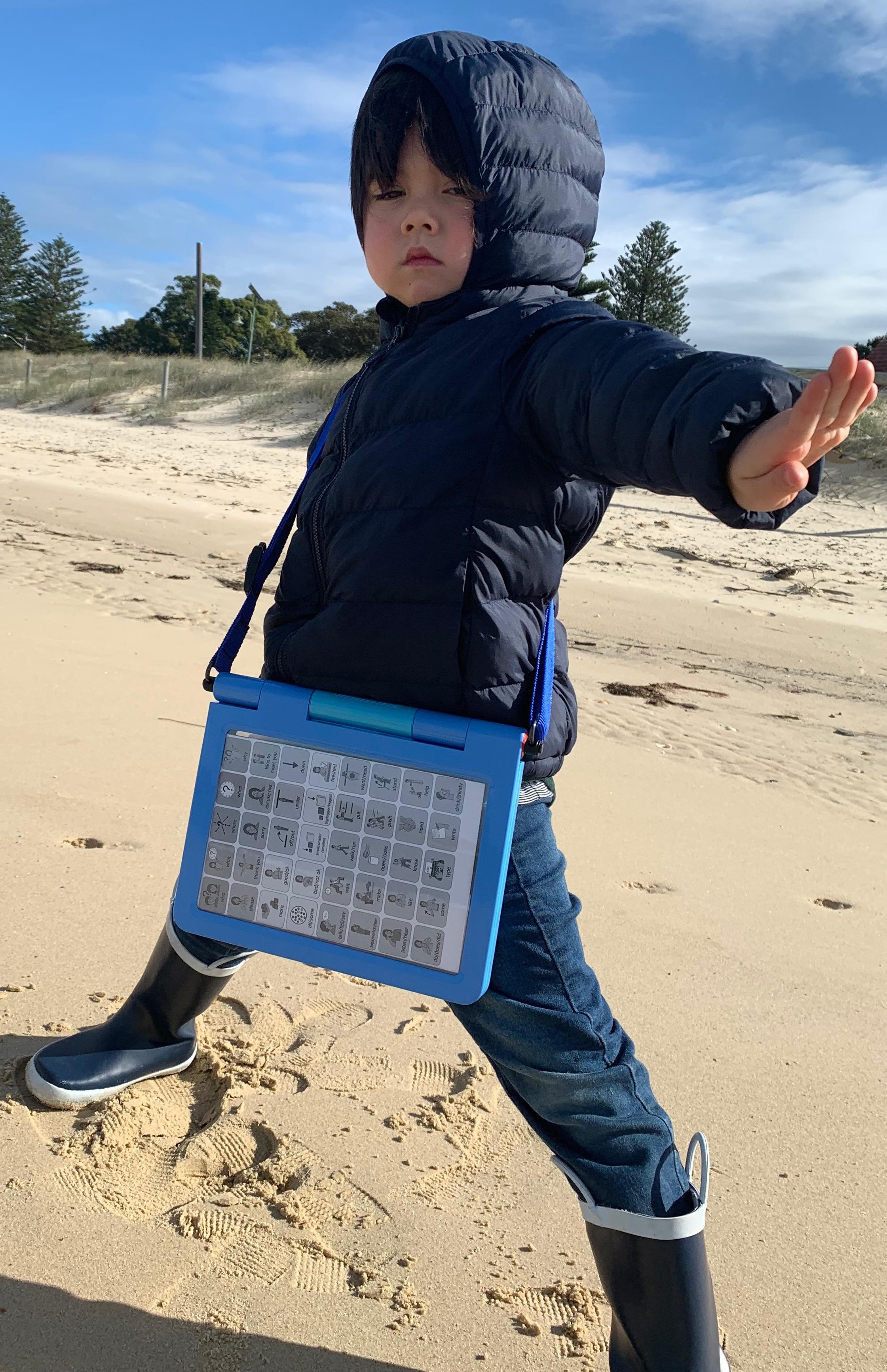 boy with picseepal symbol chart