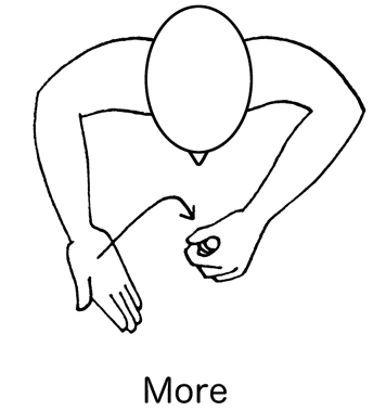 makaton gesture for more