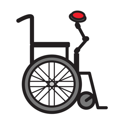 wheelchair with mount for switch